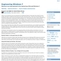 Support and Q&A for Solid-State Drives - Engineering Windows 7