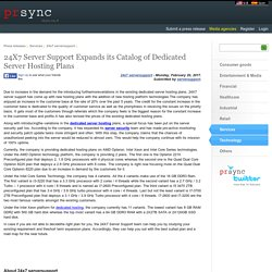 24X7 Server Support Expands its Catalog of Dedicated Server Hosting Plans
