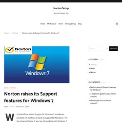 Norton raises its Support features for Windows 7