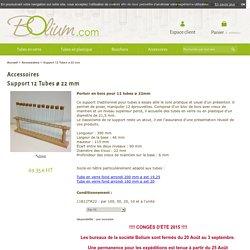 Support 12 Tubes ø 22 mm, Tubes à essai, Fioles et Soliflore - Bolium.com