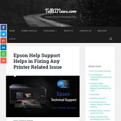 Epson Help Support Helps in Fixing Any Printer Related Issue