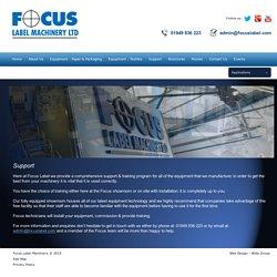 Support - Focus Label