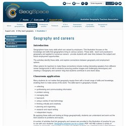 Geography and careers