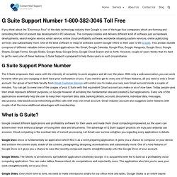 G Suite Support 1-800-382-3046 Helpline Phone Number