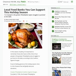 Local Food Banks You Can Support This Holiday Season