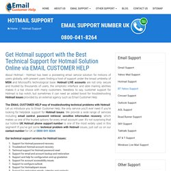 Email Support 0800 078 6002 for Hotmail Password Recovery in UK