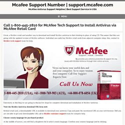 McAfee Tech Support to Install Antivirus via McAfee Retail Card
