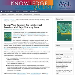 Renew Your Support for Intellectual Freedom with Sept/Oct 2015 Issue