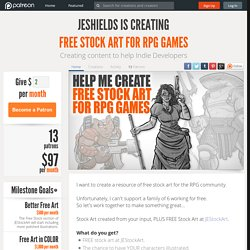 Support Jeshields creating FREE STOCK ART FOR RPG GAMES