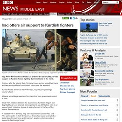Iraq offers air support to Kurdish fighters
