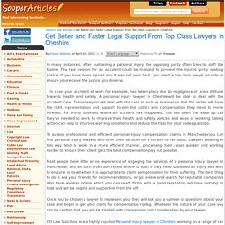 Get Better and Faster Legal Support From Top Class Lawyers In Cheshire