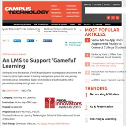 An LMS to Support 'Gameful' Learning