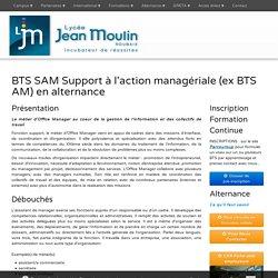 BTS SAM Support à l'action managériale (ex BTS AM) en alternance