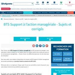 BTS 2020 : Support à l'action managériale (SAM) : sujets et corrigés
