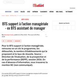 BTS support à l'action managériale - L'Etudiant