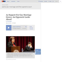 As Support For Gay Marriage Grows, An Opponent Looks Ahead