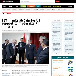 SBY thanks McCain for US support to modernize RI military