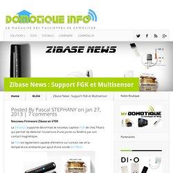 Zibase News : Support FGK et Multisensor