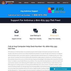 AVG Support Number Australia 1800-875-393 Avg Australia