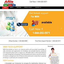 MSN Tech Support Number