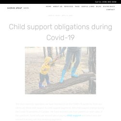 Child Support Obligations During Covid-19 in Quebec