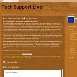 Tech Support Live: Best Online Data Backup Services