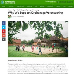 Why We Support Orphanage Volunteering