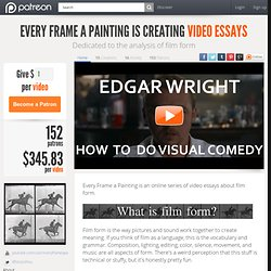 Support Every Frame a Painting creating Video Essays