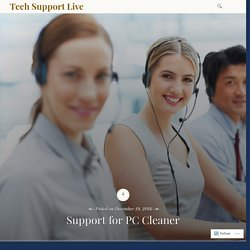 Support for Pc Cleaner