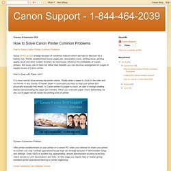 Canon Support - 1-844-464-2039: How to Solve Canon Printer Common Problems