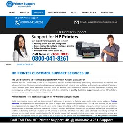 Support for HP Printers – Call 0800-078-6002 for HP Printers Support UK