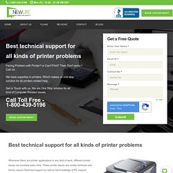 Get 24/7 Live Support for Printers