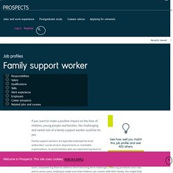 Family support worker job profile