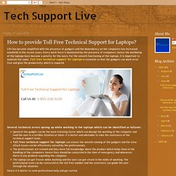 Toll Free Technical Support for Laptops
