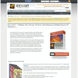 ecommerce shopping cart software by Zen Cart ecommerce solution