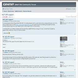 NUT UPS support - QNAP NAS Community Forum