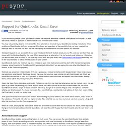 Support for Quickbooks Email Error