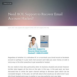 Need AOL Support to Recover Email Account Hacked?