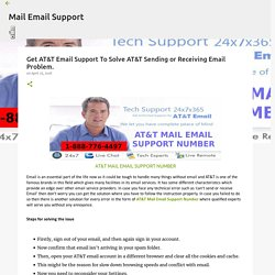 Get AT&T Email Support To Solve AT&T Sending or Receiving Email Problem.