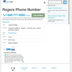 Rogers Support Phone Number