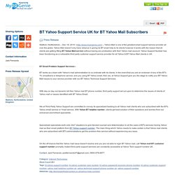 BT Yahoo Support Service UK for BT Yahoo Mail Subscribers