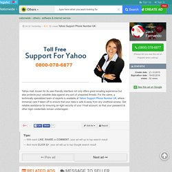 Yahoo Support Phone Number UK - Software & Internet service - PegaAd.com