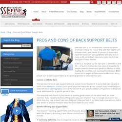 PROS AND CONS OF BACK SUPPORT BELTS
