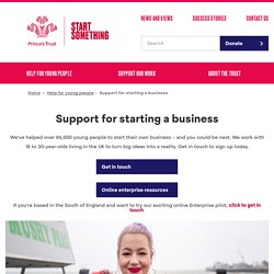 Support for starting a business