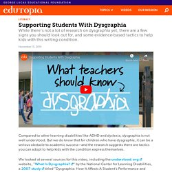 How to Support Students With Dysgraphia