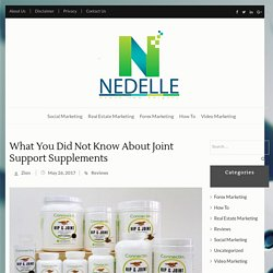 What You Did Not Know About Joint Support Supplements