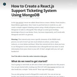 How to Create a React.js Support Ticketing System Using MongoDB