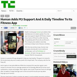 Human Adds M7 Support And A Daily Timeline To Its Fitness App