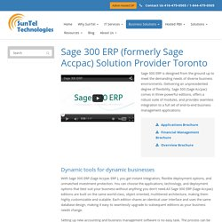Sage 300 ERP Support Services in Toronto
