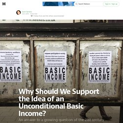 Why Should We Support the Idea of an Unconditional Basic Income? — Working Life